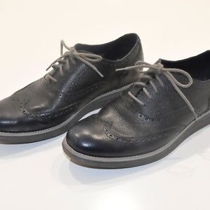 Cole Haan black leather mens sneaker oxford 10